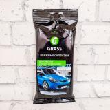 GRASS Влажные салфетки для очистки стекол, зеркал и фар 30шт (16)
