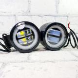 Фары (огни ходовые) 20W-CIR-White 2 линзы с ходовыми огнями (круглые)