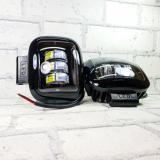 Фары (огни ходовые) 30W-SQ-Black 3 линзы (прямоугольные)